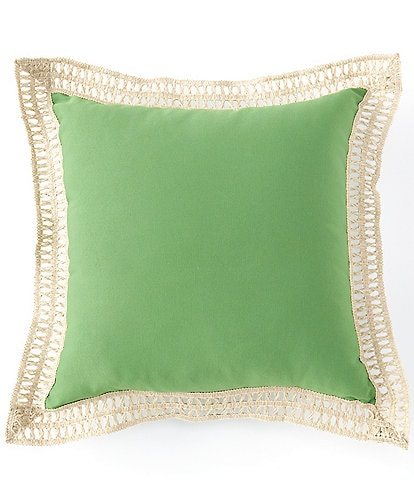 Southern Living Outdoor Living Collection Jute Trimmed Indoor/Outdoor Pillow