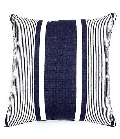 Southern Living Outdoor Living Collection Striped Indoor/Outdoor Square Pillow