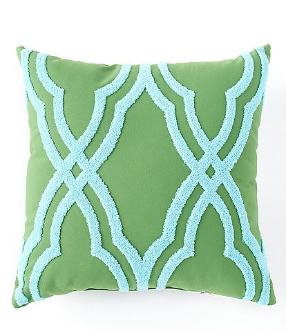 Southern Living Outdoor Living Collection Tufted Gate Indoor/Outdoor Pillow