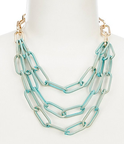 Southern Living Patina Chain Necklace