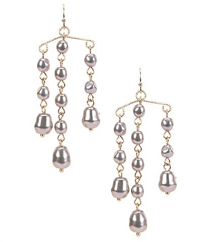 Southern Living Pearl Tiered Earrings