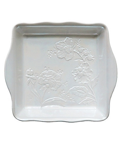 Southern Living Pearlized Glazed Floral Square Baker