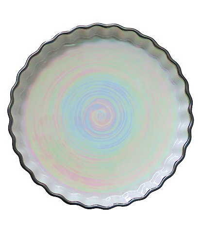 Southern Living Pearlized Glazed Ribbed Pie Dish