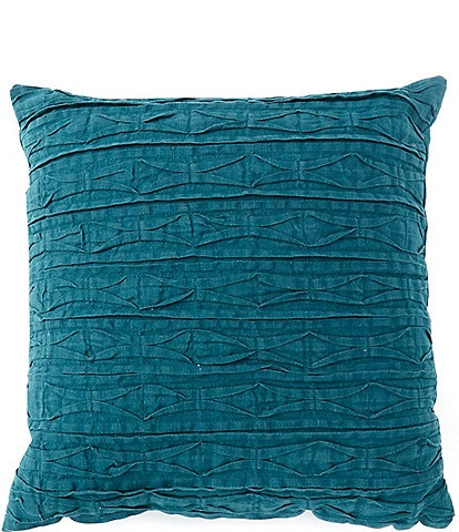 Southern Living Pin Tuck Linen Square Pillow