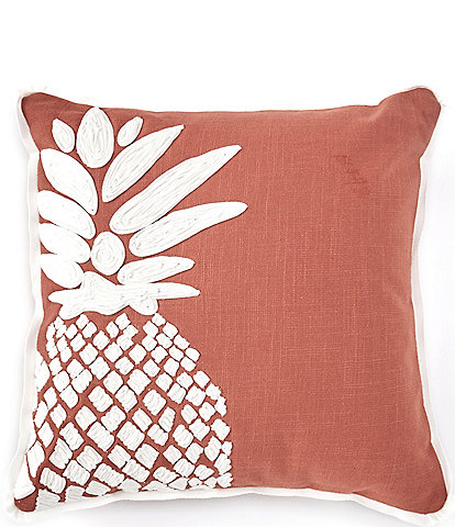 Southern Living Pineapple Applique Square Pillow