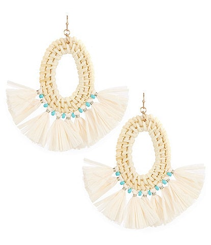 Southern Living Raffia Hoop Earrings