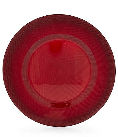 Southern Living Red Glass Charger