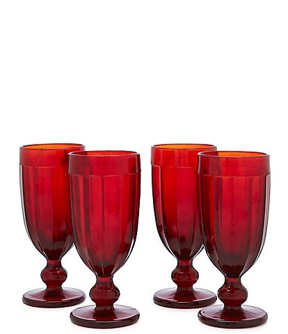 Southern Living Red Pub Glass Set of 4