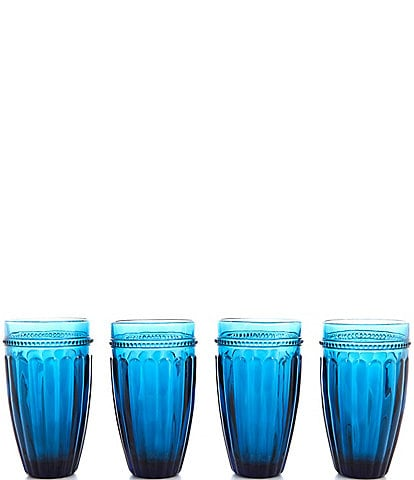 Southern Living Festive Fall Collection Ribbed Highball Glasses Set of 4