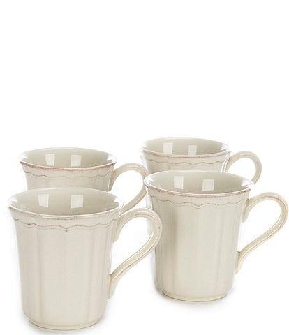 Southern Living Richmond Collection Glazed Coffee Mugs, Set of 4