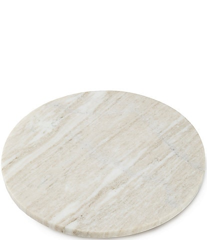 Southern Living Spring Collection Round Marble Cheese Board with Resin Feet