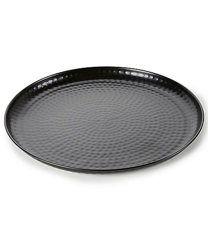 Southern Living Round Steel Black Tray