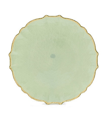 Southern Living Spring Collection Scalloped Glass Charger Plate