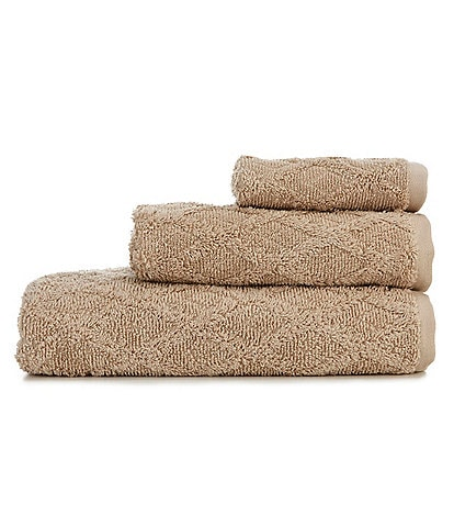 Southern Living Sculpted Diamond Bath Towels