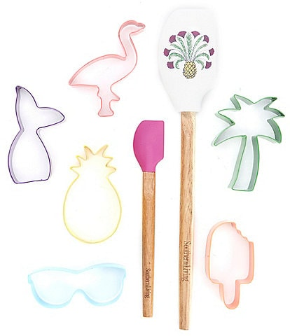 Southern Living Set of 8 Summer Cookie Cutters and Silicone Spatulas