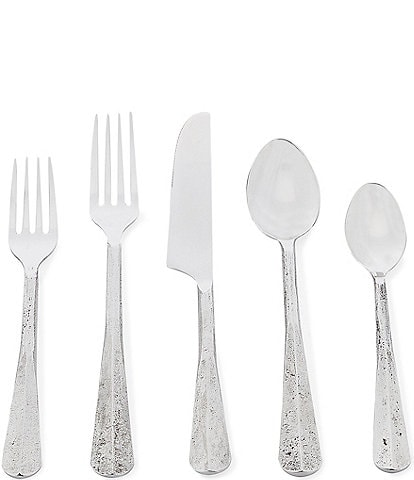 Southern Living Silver Textured 20-Piece Stainless Steel Flatware Set