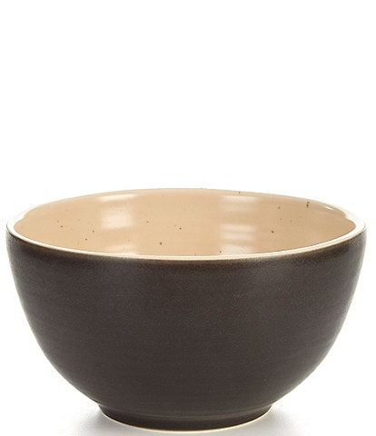 Southern Living Simplicity Collection Black & Cream Speckled Cereal Bowl