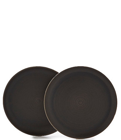 Southern Living Simplicity Collection Black & Cream Speckled Dinner Plates. Set of 2