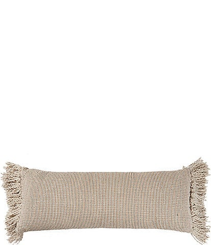 Southern Living Simplicity Collection Fringe Bolster Pillow
