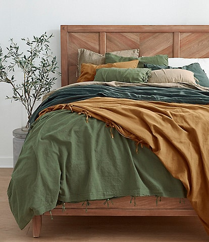 Southern Living Simplicity Collection Garrison Washed Linen & Cotton Duvet
