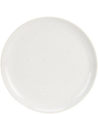 Southern Living Simplicity Speckled White Dinner Plate
