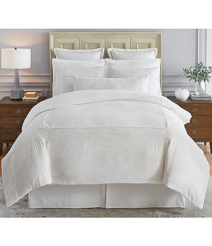 Southern Living Sommerset Embroidered Linen & Cotton Duvet Mini Set