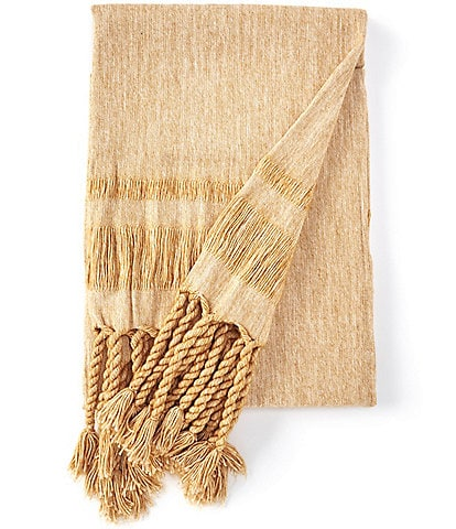 Southern Living Spring Collection Townsend Tassel Fringe Throw
