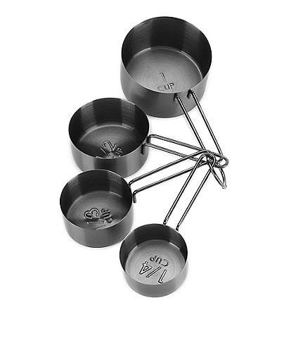 Southern Living Stainless Black Steel Measuring Cups Set of 4