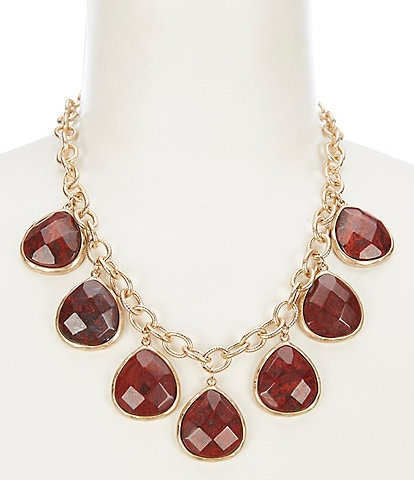 Southern Living Stone Drop Statement Necklace