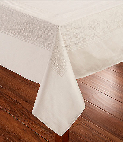 Southern Living Taupe Jaquard Tablecloth