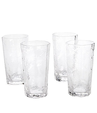 Southern Living Textured Highball Glasses, Set of 4