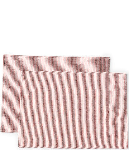 Southern Living Ticking Stripe Placemats, Set of 2