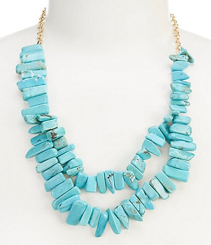 Southern Living Turquoise Stick Statement Necklace