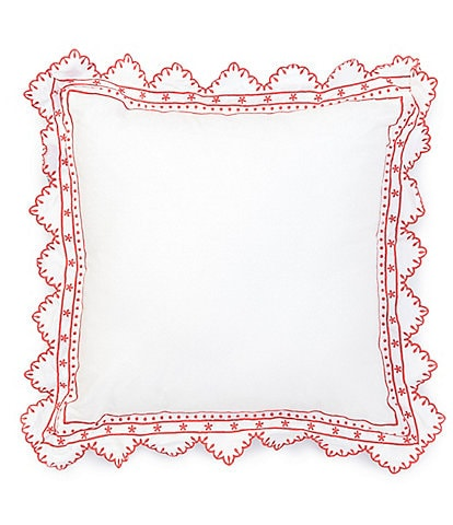 Southern Living University Collection Handkerchief Embroidered Square Pillow