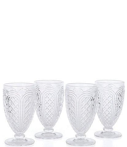 Southern Living Vintage Footed Goblets, Set of 4