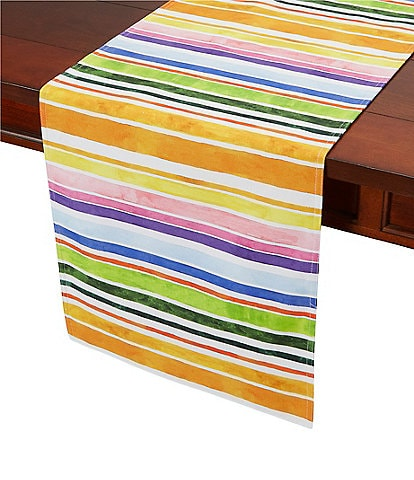 Southern Living Water Color Horizontal Stripe Table Runner