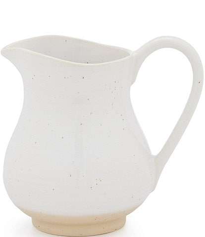 Southern Living Simplicity Collection White and Natural Speckled Pitcher