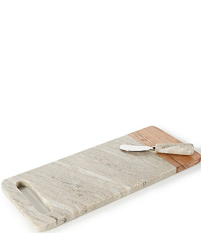Southern Living Marble Handle Cheese Board with Knife