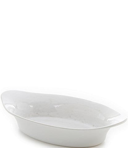 Southern Living White Oval Baker with Handles