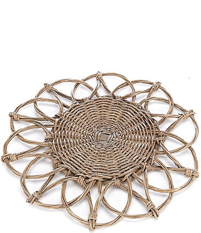 Southern Living Wicker Flower Charger