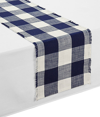 Southern Living Festive Fall Collection Wide Buffalo Check Runner