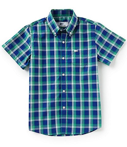 Southern Lure Big Boys 8-20 Short-Sleeve Woven Plaid Shirt