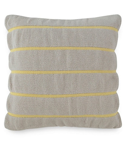 Southern Tide Bayside Square Knit Striped Decorative Pillow