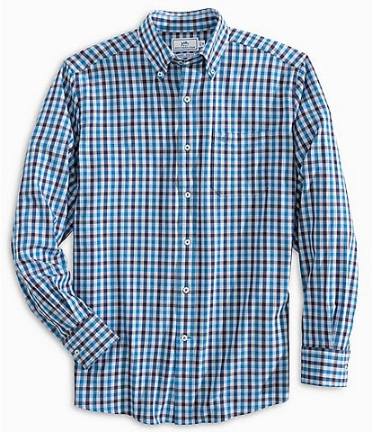 Southern Tide Channel Marker Gingham Long-Sleeve Woven Shirt