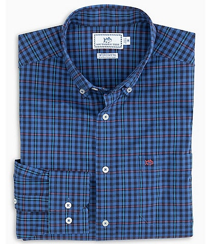 Southern Tide Coastal Passage Boulder Long-Sleeve Woven Plaid Shirt