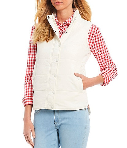 Southern Tide Cobie Button Front Puffer Vest