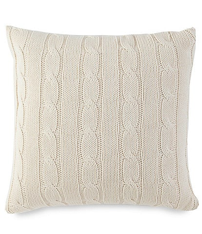 Southern Tide Croatan Cable Knit Throw Pillow