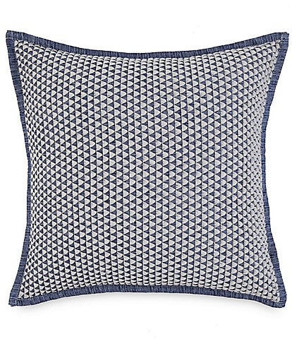 Southern Tide Croatan Triangle Embroidery Square Pillow