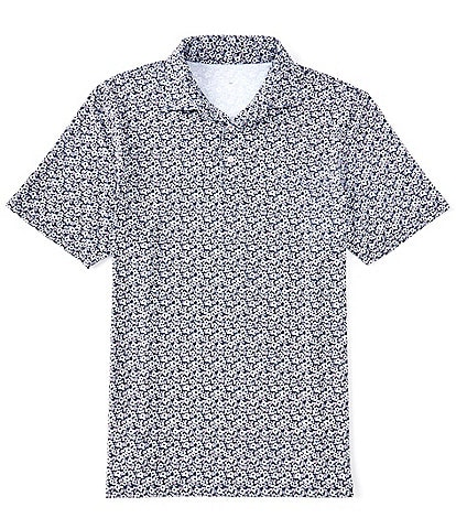 Southern Tide Driver Folley Print Performance Stretch Short-Sleeve Polo Shirt