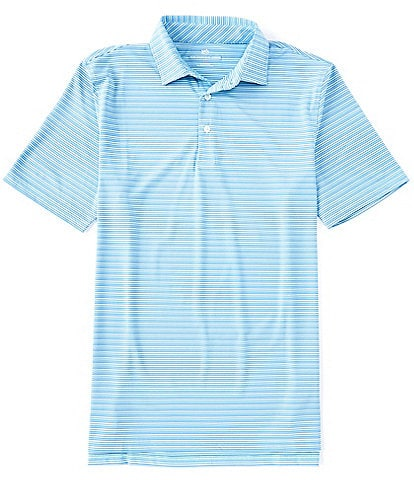 Southern Tide Driver Multi Stripe Performance Short-Sleeve Polo Shirt